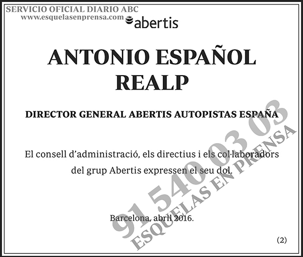 Antonio Español Realp